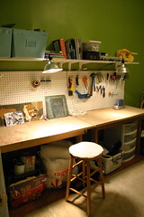 an organized craft corner