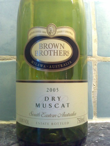 Brown Brothers Dry Muscat 2005