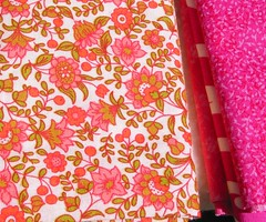 Floral and pink fabric from Sonya