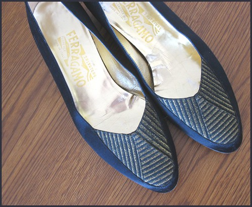 thrifted salvatore ferragamo flats