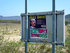 Affiche de José Bové en Ardèche