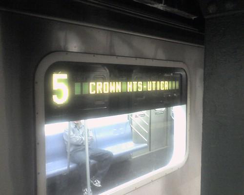 A Crown Heights Bound 5 Train