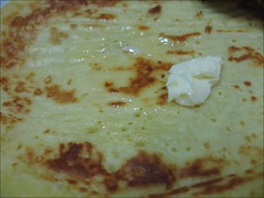 homemade pancake with butter