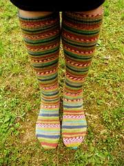 stripey knee socks