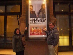 Hubby and me in front of Carnegie Hall to see Pat Metheny