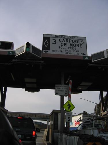 Peatge californià gratuït per a vehicles amb almenys 3 ocupants - De nancyf a Flickr -