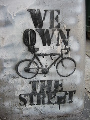 Pro-bike graffiti