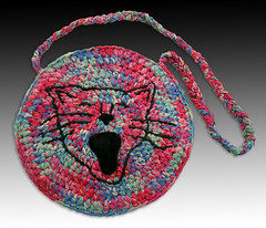 big mouth cat purse reds