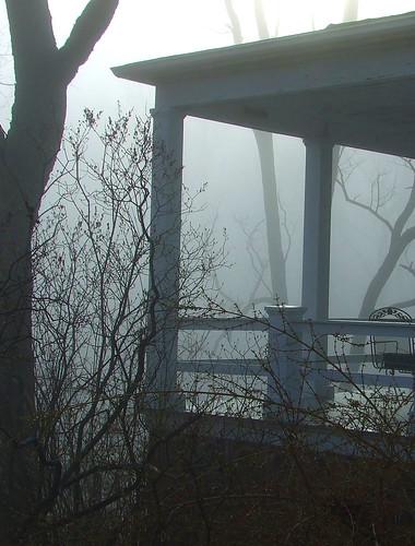 foggy porch