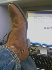 Lib in boots