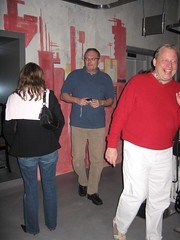 Martina, Roger und Stephan im Papiersaal Sihlcity