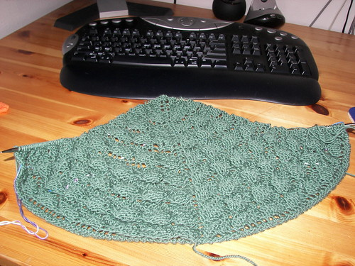 shawl and keyboard
