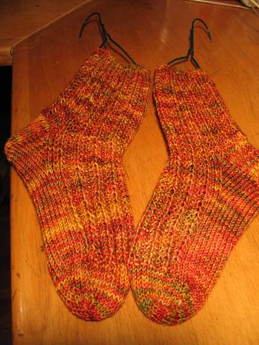 Finished Campfire Socks
