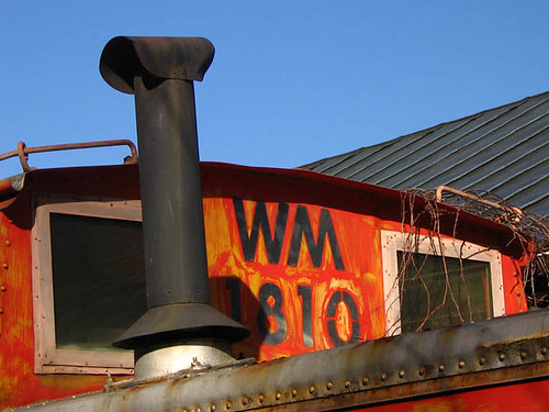 Cupola area of caboose