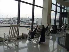 Rocking Chairs at Philly Airport