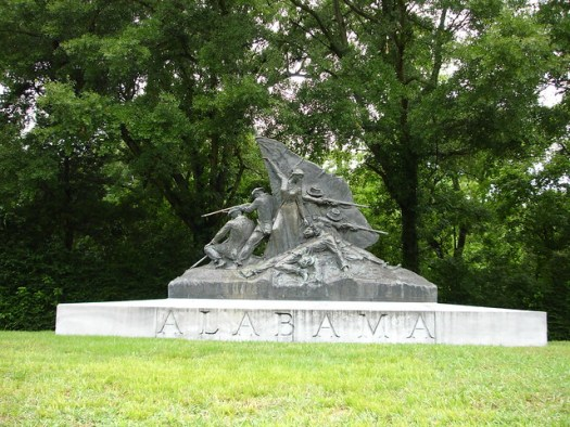 Vicksburg National Cemetery, Alabama Monument