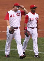 Dunn and former teammate Griffey (Erik Eckel/Flickr).