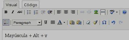 Editor visual de WordPress