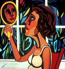 Faith Ringgold, Woman Looking in a Mirror