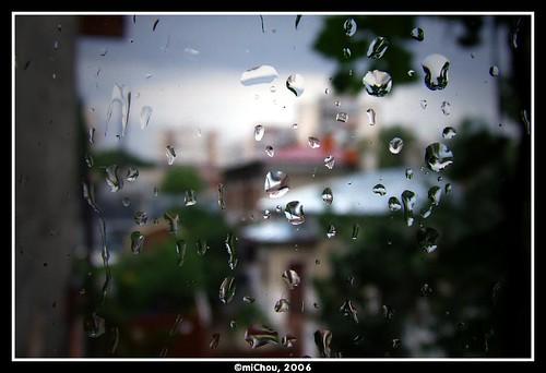 Raindrops on my window