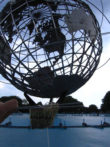 Traveling Sock visits the Unisphere