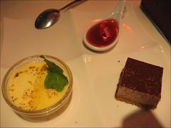 cake and a custard