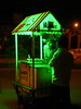 Ice cream vendor in eerie green light
