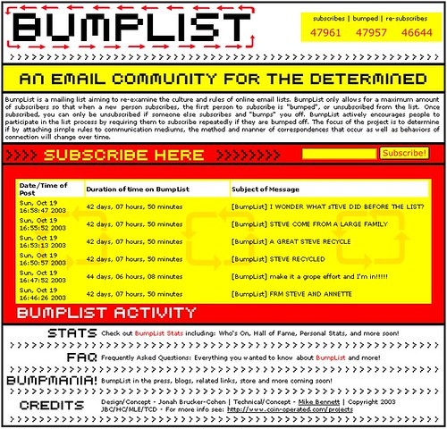 Bumplist, 2003