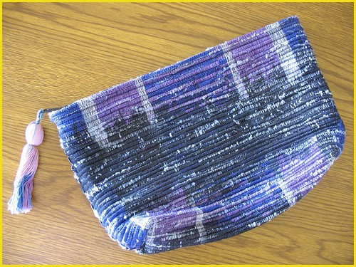 thrifted purple clutch