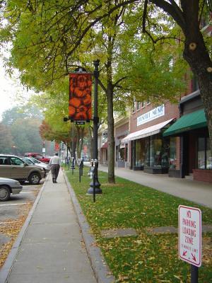 Main Street sidewalk, Keene, NH