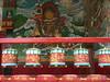 Prayer wheels, Tibetan temple, Sarnath