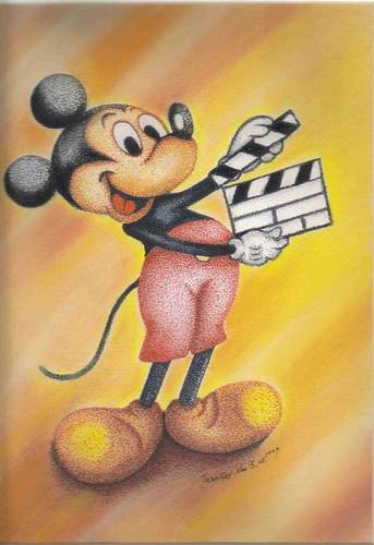 簽�點畫粉彩_Mickey Mouse_3