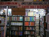 Book shop in Paharganj - Mind your head!