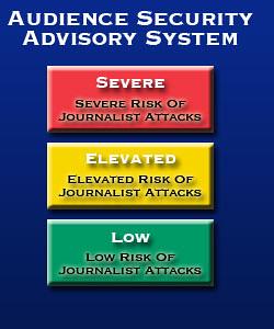Journalist attack threat level