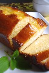 Yogurt Cake with marmalade glaze
