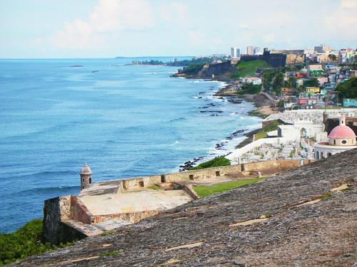 The view from el Morro into La Perla
