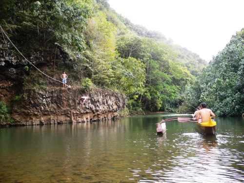 Swimming Hole In Wailua River