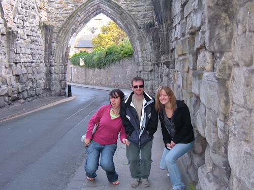 Amy, Deuan and Jenny in St. Andrews