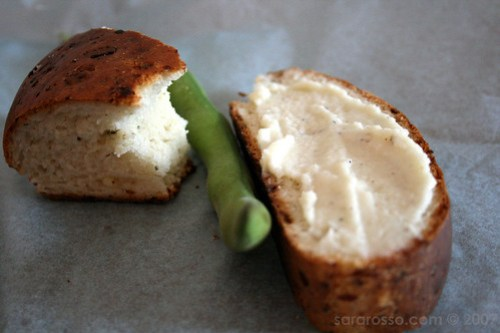 Pecorino Spread and Fava Garnish