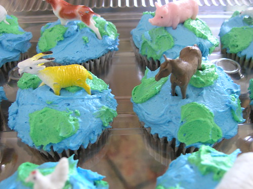 Earthday cupcakes