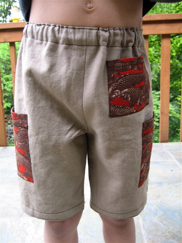 Koi Linen Shorts