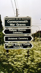 Commonwealth War Graves Commission signs in Fl...