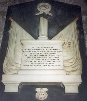 Memorial to Capt Stevenson