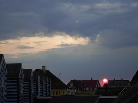 Anochecer en la isla de Fano, Dinamarca