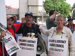 Telus Workers Rally: Local support