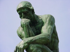Close up of The Thinker