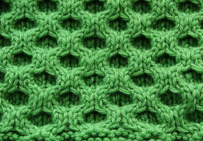 Aran Honeycomb Swatch