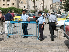 Two Palestinian police in Manger Square_1649