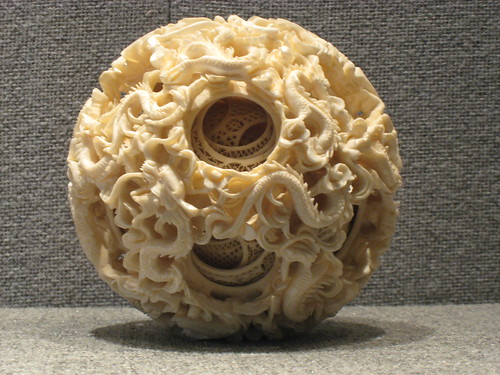 Intricately carved ivory puzzle ball at the Chen Family Temple -- Could you carve this?