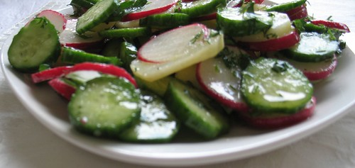 Potato Salad with Cucumbers & Radishes